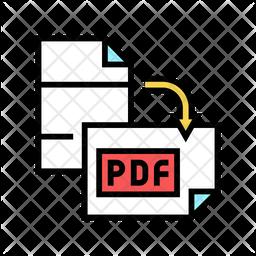 Pdf Orientation Colored Outline Icon
