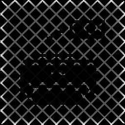Pdf Printing Glyph Icon