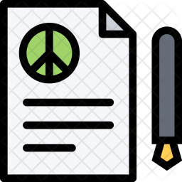 Peace Icon Of Colored Outline Style Available In Svg Png Eps Ai Icon Fonts