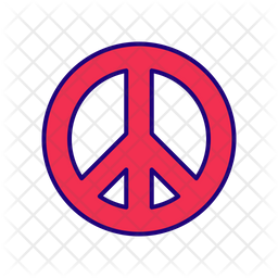 Peace Symbol Icon Of Colored Outline Style Available In Svg Png Eps Ai Icon Fonts