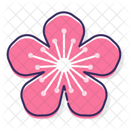 Peach Flower Icon