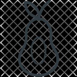 Pear Line Icon