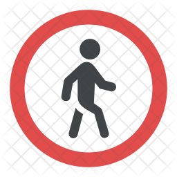 Pedestrian Crossing Sign Icon png