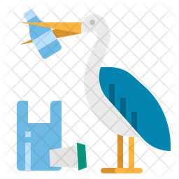 Pelican Eat Plastic Icon