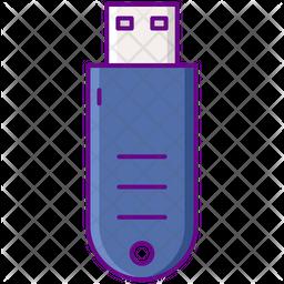 Pen Drive Colored Outline Icon