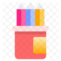 Pencils Box Icon