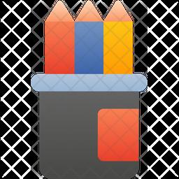 Pencils Box Icon
