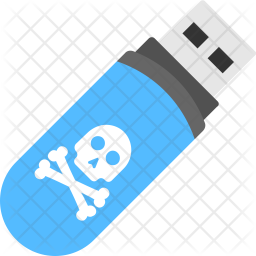 Pendrive with Virus Icon