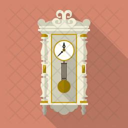 Vintage Pendulum Clock Icon