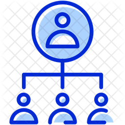 People Hierarchy Colored Outline Icon