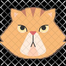 Persian Cat Flat Icon