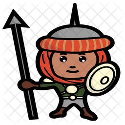 Persian hero Colored Outline Icon