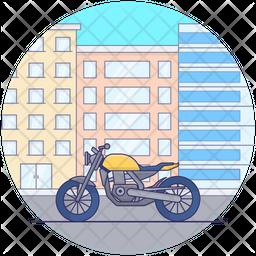 Personal Motorbike Icon