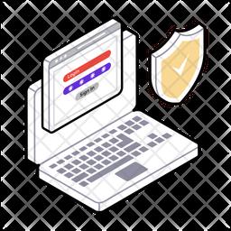 Personal Password Isometric Icon