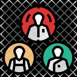 Personalization Marketing Colored Outline Icon