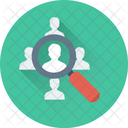 Personnel Search Flat Icon
