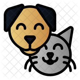 Pet Colored Outline Icon