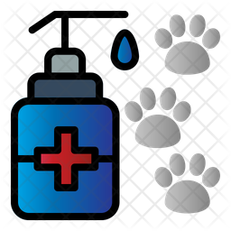 Pet Antiseptic Colored Outline Icon
