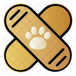 Pet Bandage Colored Outline Icon