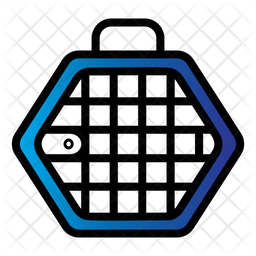 Pet Cage Colored Outline Icon