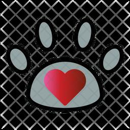 Pet Care Colored Outline Icon