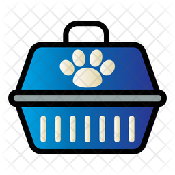 Pet Carrier Colored Outline Icon
