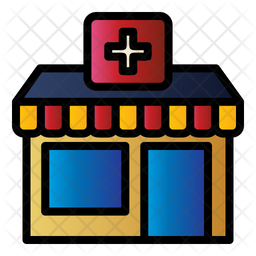 Pet Clinic Colored Outline Icon
