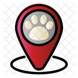 Pet Clinic Location Colored Outline Icon