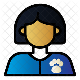 Pet Doctor Colored Outline Icon