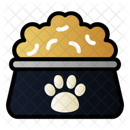 Pet Food Colored Outline Icon