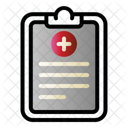 Pet Medical Report Colored Outline Icon