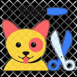 Pet salon Colored Outline Icon