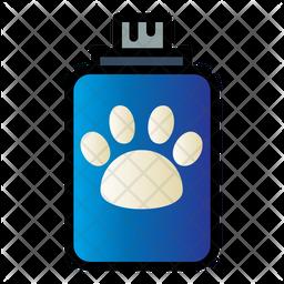 Pet Shampoo Colored Outline Icon