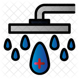 Pet Shower Colored Outline Icon