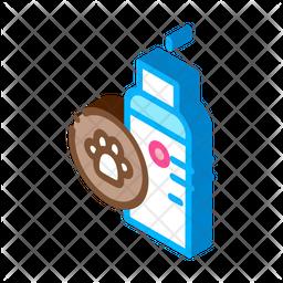 Pet Spray Isometric Icon