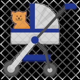 Pet Stroller Flat Icon