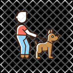 Pet walking service Icon