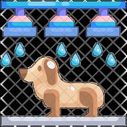 Pet Washing Flat Icon
