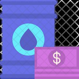 Petrodollar Flat Icon