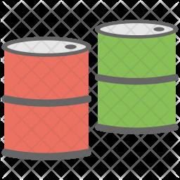 Petrol Drum Flat Icon