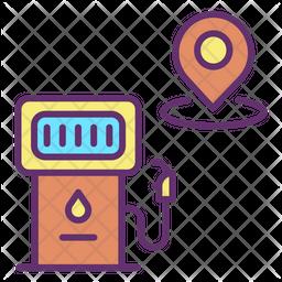 Petrol Station Location Icon
