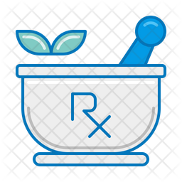 Pharmaceuticals Colored Outline Icon