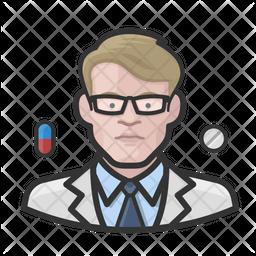 Pharmacist White Male Icon