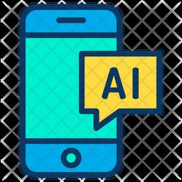Phone Ai Icon