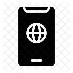 Phone Internet Glyph Icon