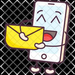 Phone Message Emoji Icon