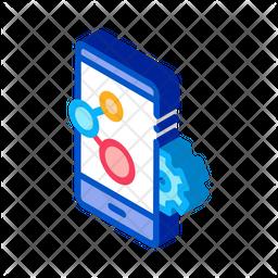 Phone Setting Isometric Icon