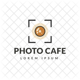 Photo Cafe Colored Outline  Logo Icon