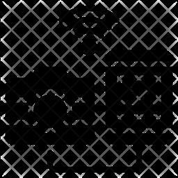 Photo Transfer Glyph Icon