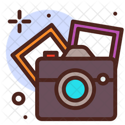 Photography Colored Outline Icon